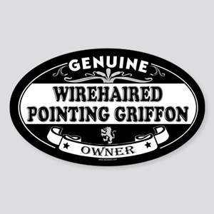 WIREHAIRED POINTING GRIFFON Oval Sticker