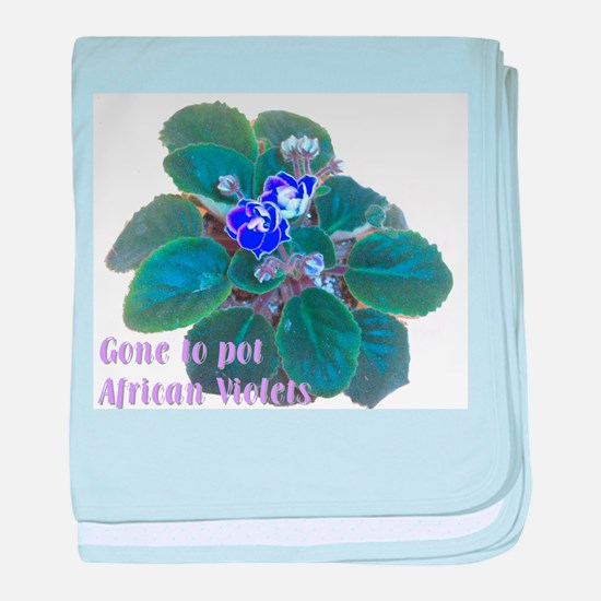 blue plant cutout words.png baby blanket