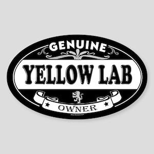 YELLOW LAB Oval Sticker