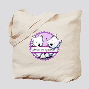 KiniArt Westies Besties Tote Bag