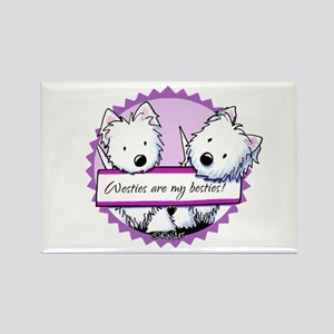 KiniArt Westies Besties Rectangle Magnet