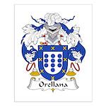 Orellana Family Crest Small Poster