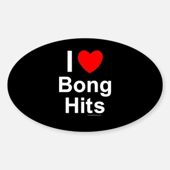 Bong Hits Sticker (Oval)
