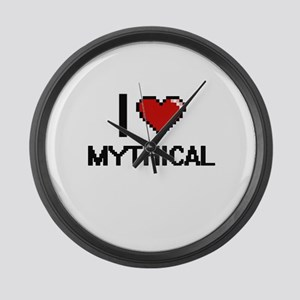 I Love Mythical Large Wall Clock