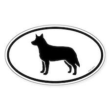 Australian Cattle Dog Oval Sticker