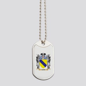 Leos Coat of Arms - Family Crest Dog Tags