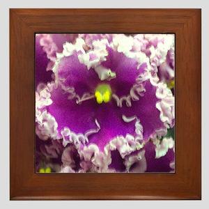 rosie ruffles ornament Framed Tile
