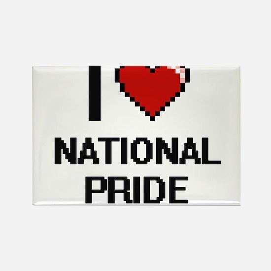 I Love National Pride Magnets