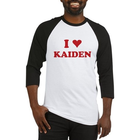 I LOVE KAIDEN Baseball Jersey