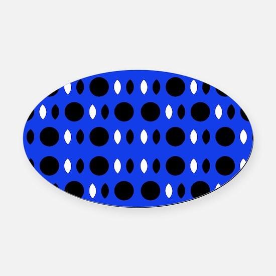 Cobalt Blue Perception Andre's Fav Oval Car Magnet