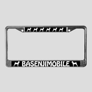 Basenjimobile License Plate Frame