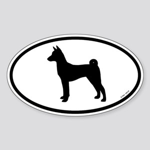 Basenji Oval Sticker