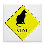 Cat Crossing Tile Coaster