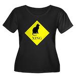 Cat Crossing Plus Size T-Shirt
