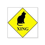 Cat Crossing Sticker