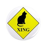 """Cat Crossing 3.5"""" Button (100 Pack)"""