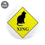 """Cat Crossing 3.5"""" Button (10 Pack)"""