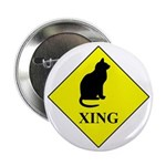 """Cat Crossing 2.25"""" Button (100 Pack)"""