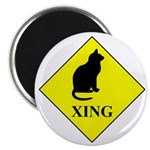 Cat Crossing Magnets
