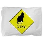 Cat Crossing Pillow Sham