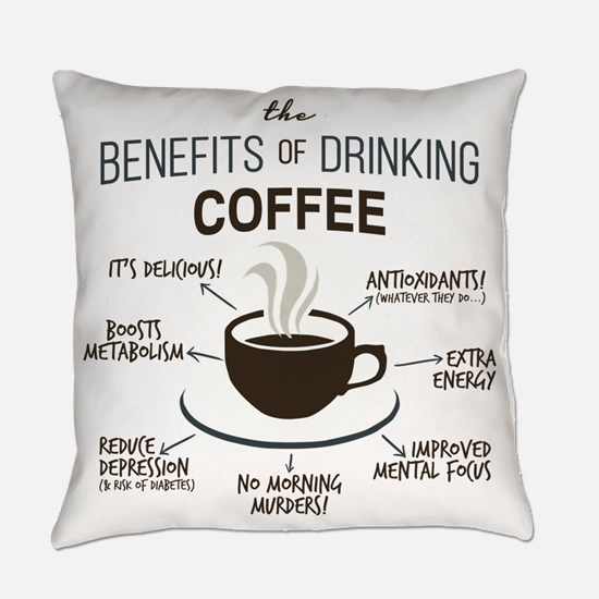 Cute Beverages Everyday Pillow