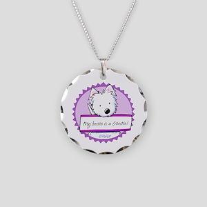 KiniArt Westie Bestie Necklace Circle Charm