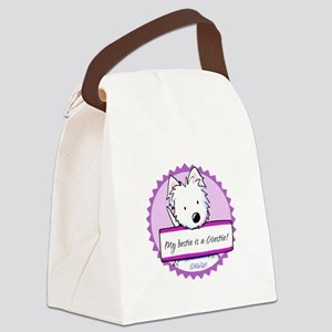 KiniArt Westie Bestie Canvas Lunch Bag