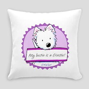 KiniArt Westie Bestie Everyday Pillow