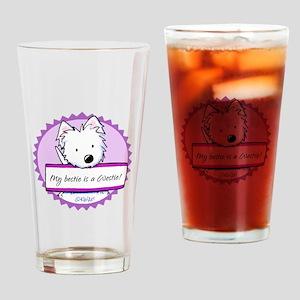 KiniArt Westie Bestie Drinking Glass