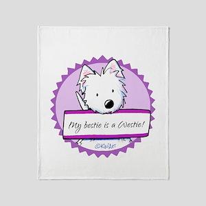 KiniArt Westie Bestie Throw Blanket
