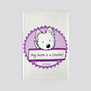 KiniArt Westie Bestie Rectangle Magnet