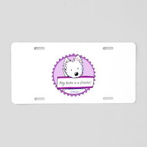 KiniArt Westie Bestie Aluminum License Plate