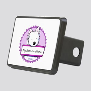 KiniArt Westie Bestie Rectangular Hitch Cover