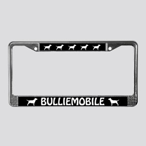 Bull Terrier (Bulliemobile) License Plate Frame