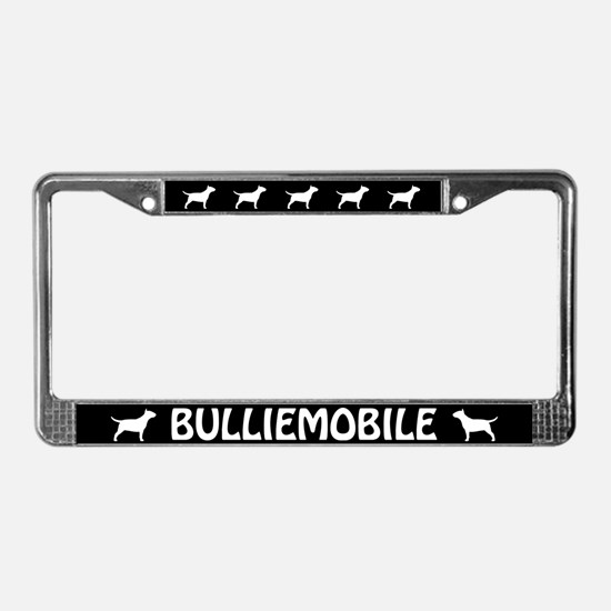 Bull Terrier (Bulliemobile) License Plate Frame