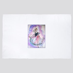 Ballet dancer, art! 4' x 6' Rug