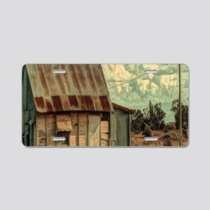 rural distressed old farm Aluminum License Plate