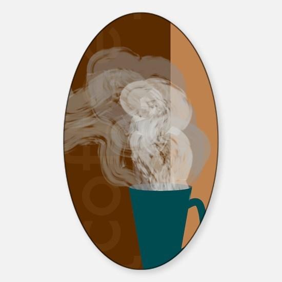 Coffee Oval Decal