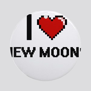 I Love New Moons Round Ornament