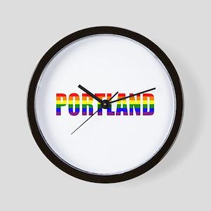 Portland Pride Wall Clock