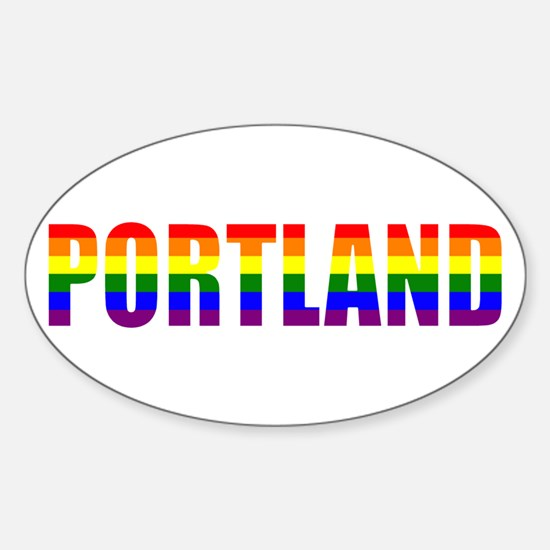 Portland Pride Oval Decal
