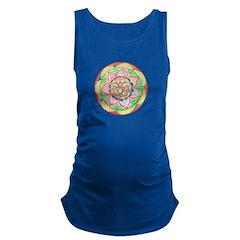 Orange Mandala Maternity Tank Top