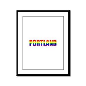 Portland Pride Framed Panel Print