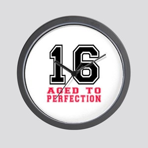 16 Aged To Perfection Birthday Designs Wall Clock