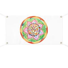 Orange Mandala Banner
