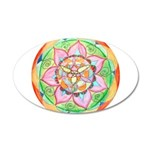Orange Mandala Wall Decal