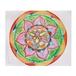 Orange Mandala Throw Blanket