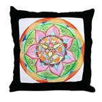 Orange Mandala Throw Pillow