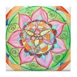 Orange Mandala Tile Coaster
