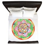 Orange Mandala King Duvet